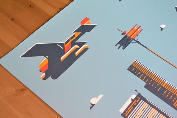 Plane Seattle Artwork by Rick Murphy