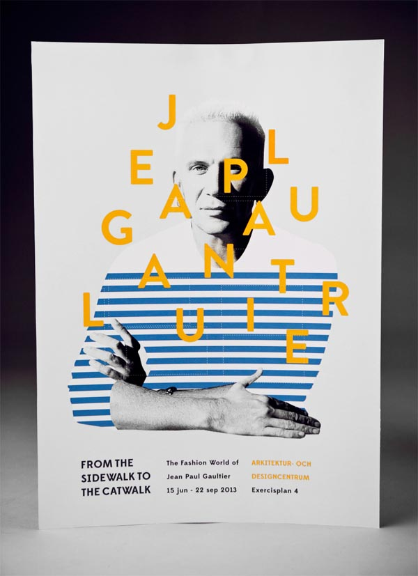 Poster Design By Amanda Berglund For A Jean Paul Gaultier Exhibition