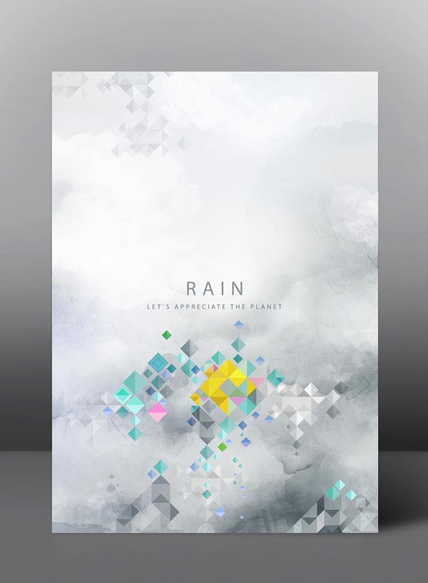 Rain - Let's appreciate the planet - Graphic Poster Series by jDstyle
