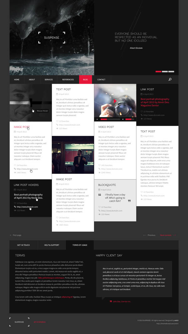 SUSPENSE HTML Website Template By Entiri - Html site template