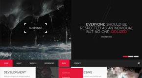 SUSPENSE - HTML Website Template by Entiri