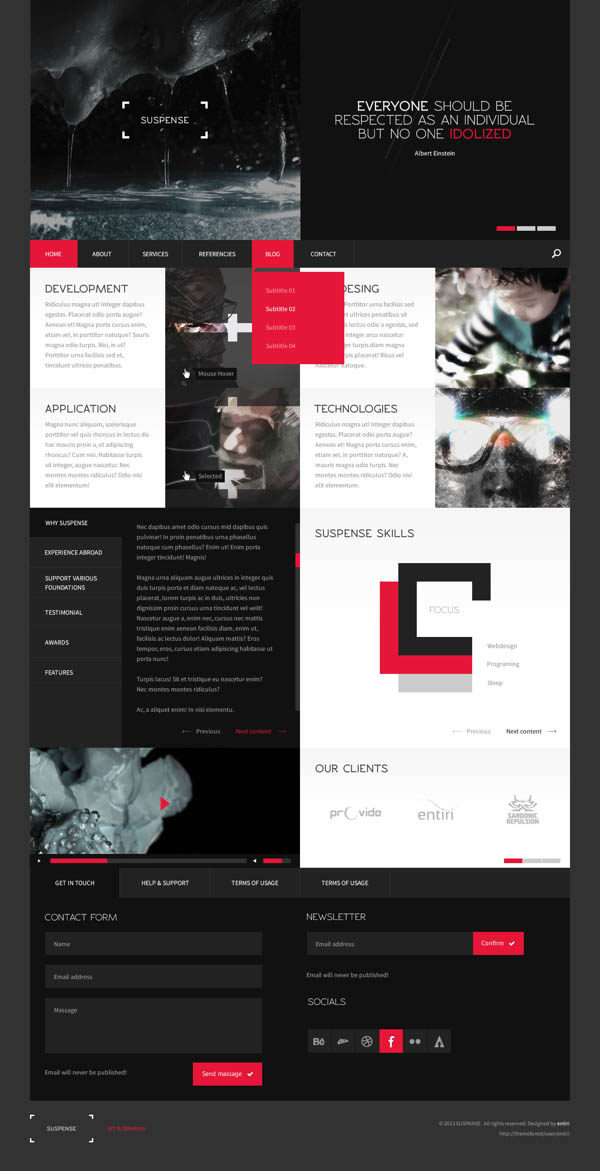 SUSPENSE – HTML Website Template by Entiri