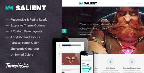 Salient - WordPress Theme by ThemeNectar