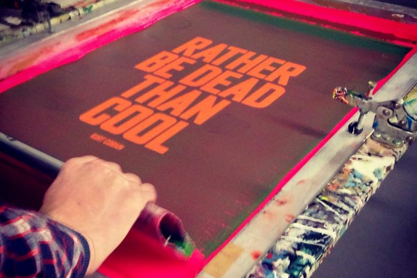screen printing of the limited edition poster