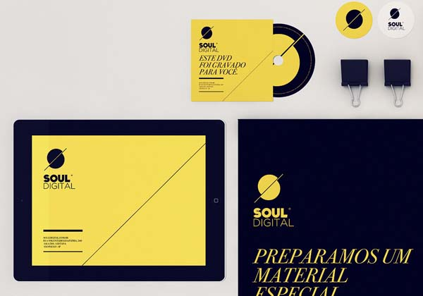 Soul Digital - Yellow and Black Identity Design by Isabela Rodrigues - Sweety Branding Studio