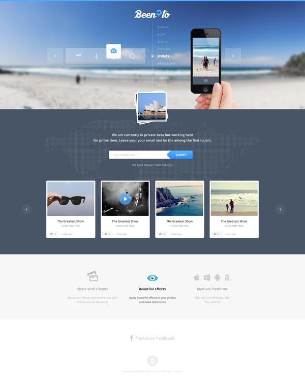 Travelling Website Design by Cosmin Daniel Capitanu