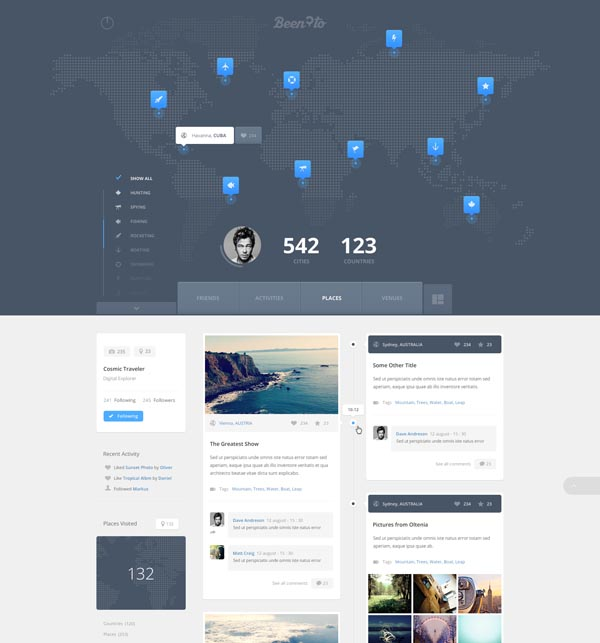 Travelling Website with Map - Web Design by Cosmin Daniel Capitanu