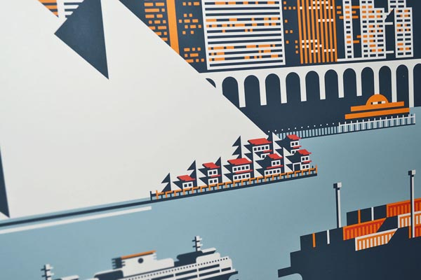 Waterfront Seattle Print by Rick Murphy