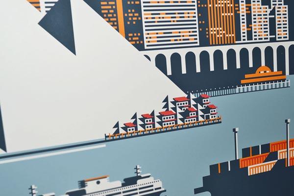 Waterfront Seattle Print by Rick Murphy