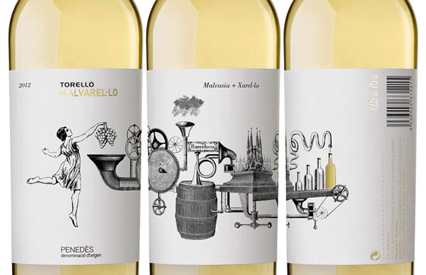 Wine Labels - Illustration by Alessandro Maffioletti