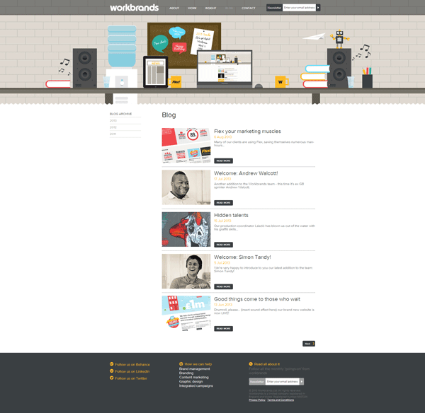 Workbrands – Nice Illustrated Website