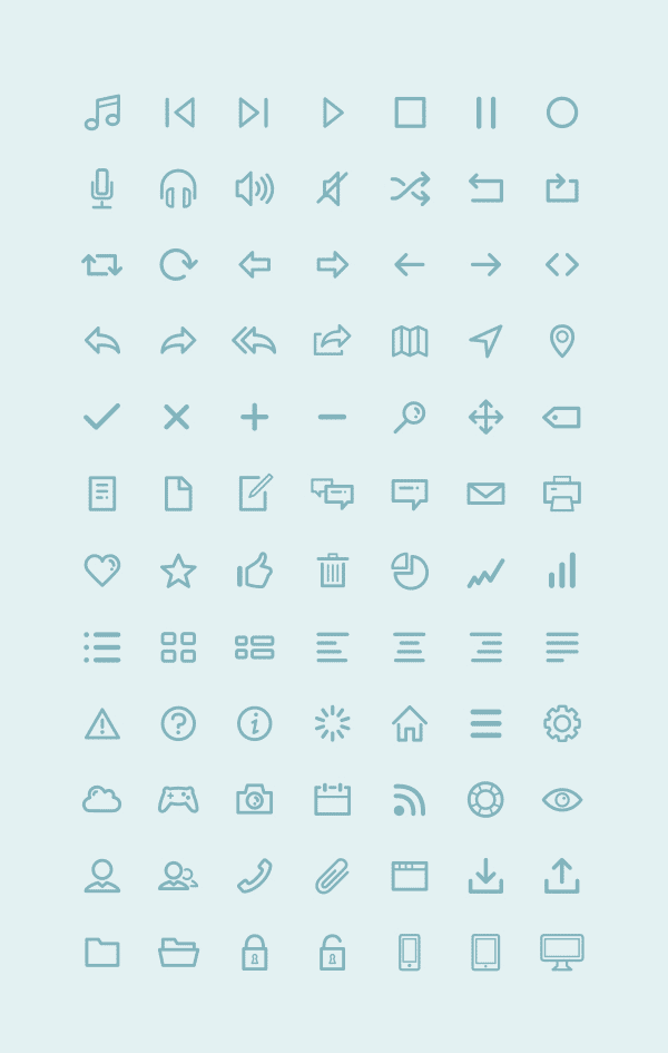 Free Icon Set by Amit Jakhu - Examples