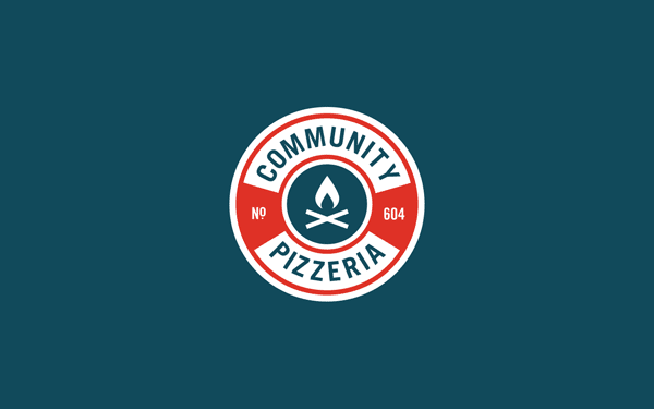 Community Pizzeria - Logo Design by Foundry Co.