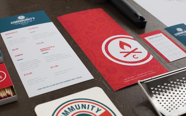 Community Pizzeria - Printed Collateral by Foundry Co.