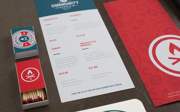 Community Pizzeria - Corporate Identity by Foundry Co.