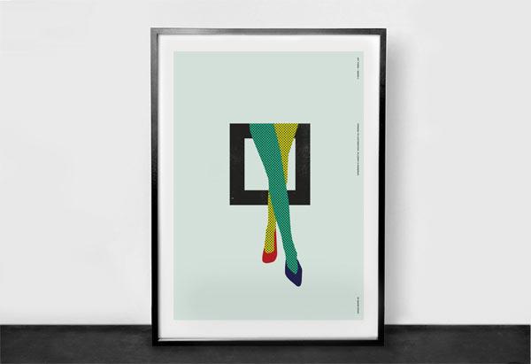 Homage Illustrations by David Popov to Lichtenstein, Villemot, and Mondrian