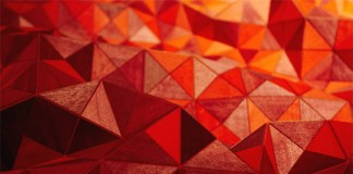 Blanket made of soft & flexible wood pieces by German textile designer Elisa Stotzyk - close up