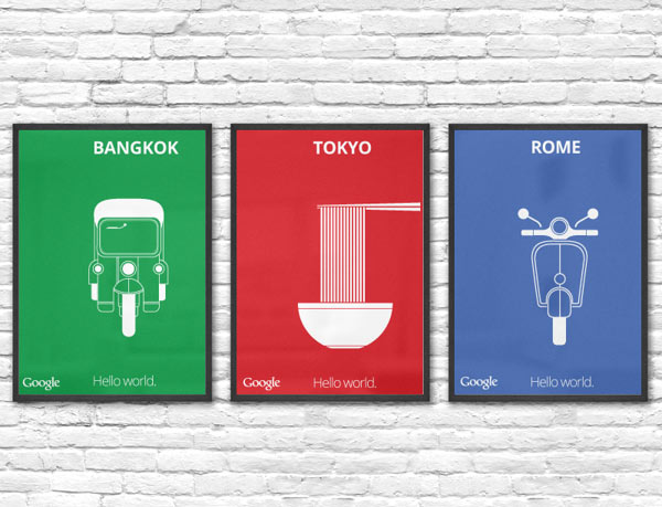 Google Maps - Hello World Posters