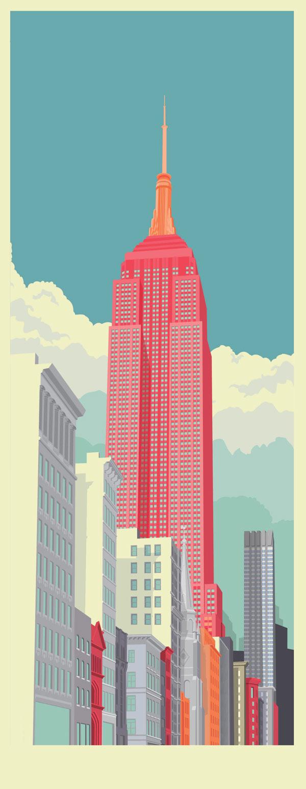 Bien-aimé New York City Illustrations by Remko Heemskerk CP04