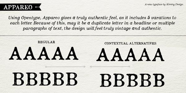 Appareo - Regular and Contextual Alternatives