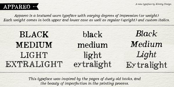 Appareo imperfect serif font family by Kimmy Design