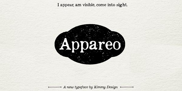 Appareo worn typeface by Kimmy Design