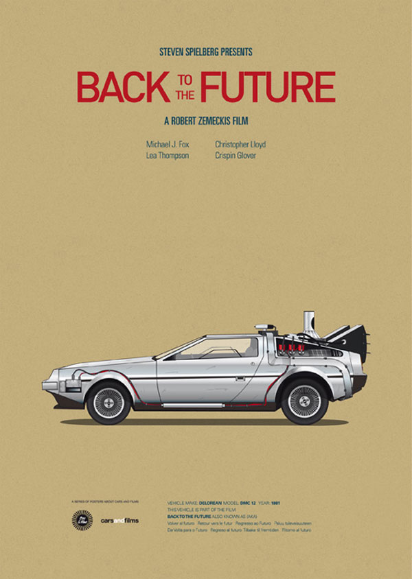 Cars and Films – Poster Series by Jesús Prudencio