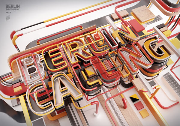 Berlin Calling - 3D Lettering by Peter Tarka