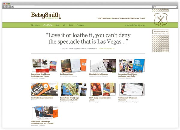 Betsy Smith Worldwide - Website Design by Eight Hour Day