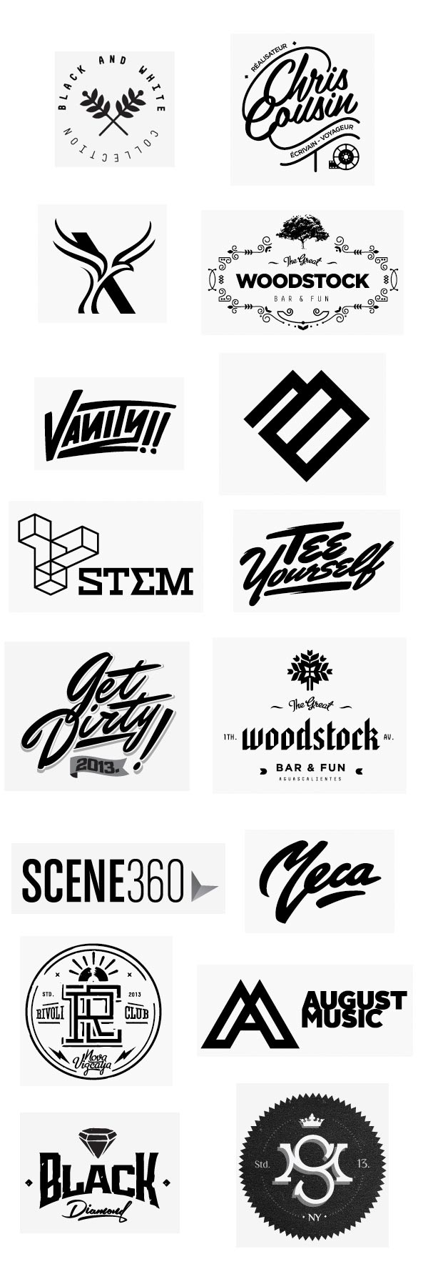Black and White Logo Collection by Elias Mule