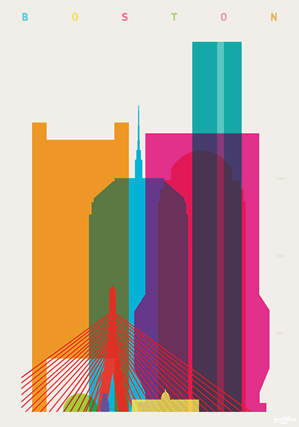Shapes of Cities – New Screenprints by Yoni Alter
