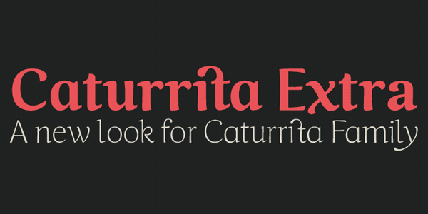 Caturrita Extra Font Family by Armasen