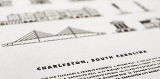 Charleston Landmarks Letterpress Poster - Details