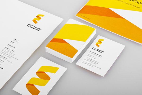 Elektromobilität Region Aachen - Business Cards - Student Project by Jann de Vries and Stefan Zimmermann