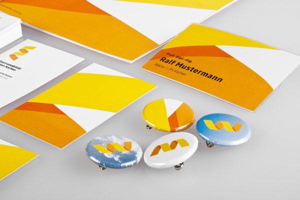 Elektromobilität Region Aachen - Business Cards and Buttons