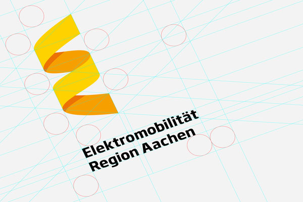 Elektromobilität Region Aachen - Logo Design - Student Project by Jann de Vries and Stefan Zimmermann