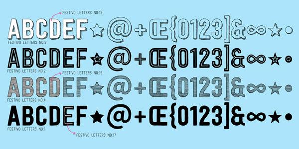 Festivo Font - handmade letters by Ahmet Altun