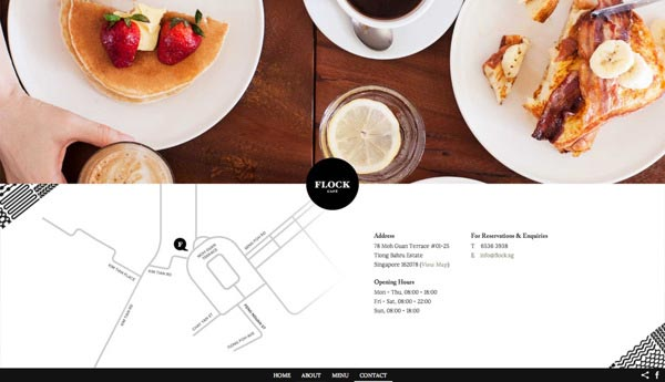 Flock Café - Web Design by Kilo Studio