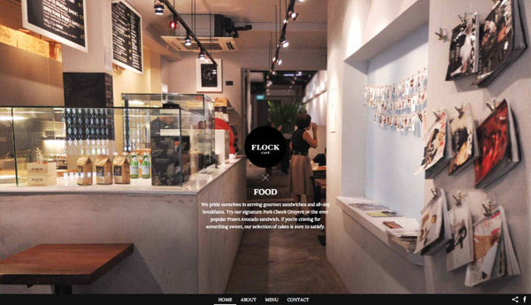 Flock Café - Website Design by Kilo Studio