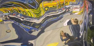 Flow - Distorted Urban Oil Painting by Erik Nieminen