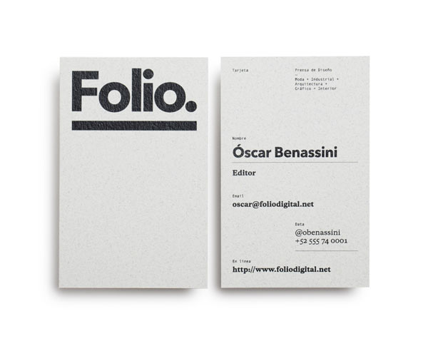 Folio. Identity Design by Face