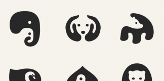 Graphic Negative Space Animal Icons by George Bokhua