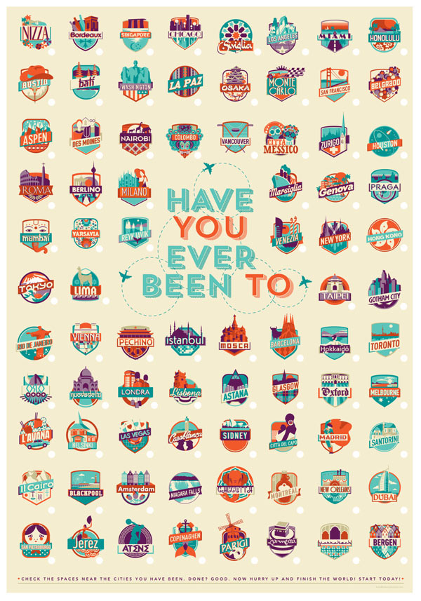 Have You Ever Been To - Poster Illustration by Federica Bonfanti
