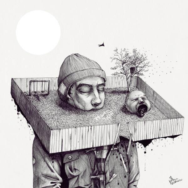 Kid, please, draw me a house! - Illustration by Slava Triptih
