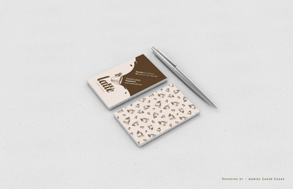 Latté Coffee Business Cards by Daniel Lasso Casas