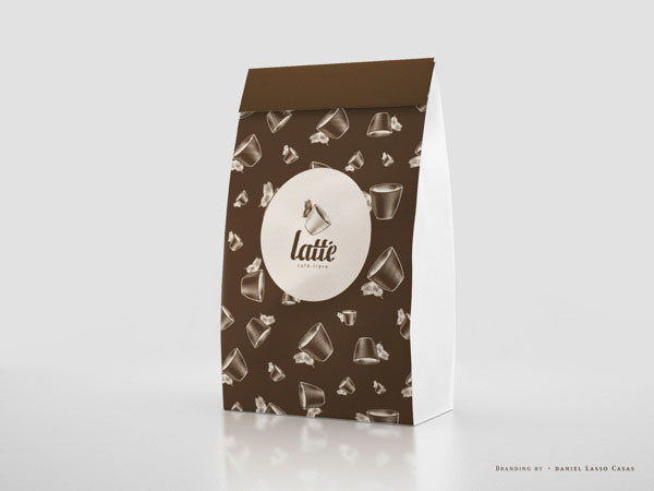 Latté Coffee Packaging Design by Daniel Lasso Casas