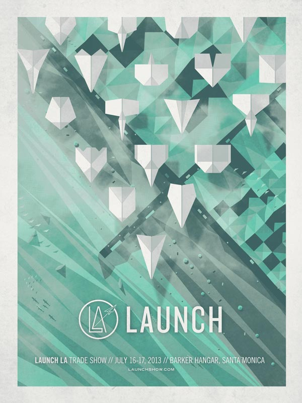 Launch LA Event Poster Design by DKNG Studio