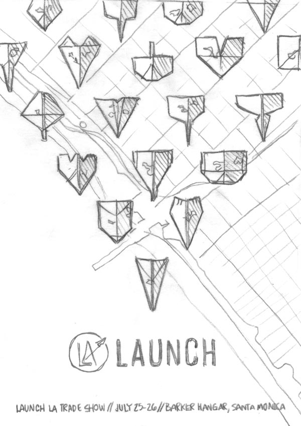 Launch LA Event Poster Scribble by DKNG Studio