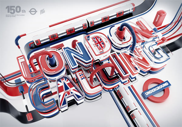 London Calling - 3D Lettering by Peter Tarka