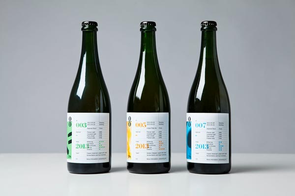 O/O Brewing - Bottles Design by Lundgren+Lindqvist